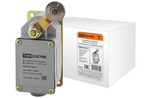 Концевой выключатель ВК-200-БР-11-67У2-2X с самовозвратом 16А 660В IP67 TDM