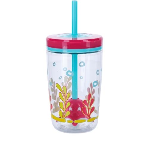 Стакан детский с трубочкой Contigo Floating Straw Tumbler (0,47 литра), розовый