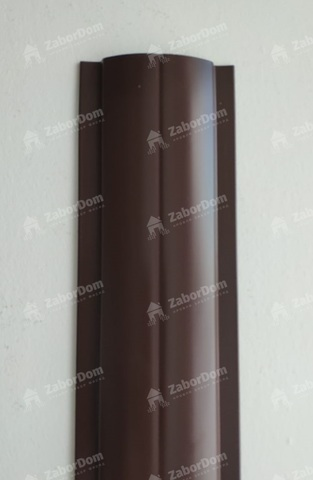 Евроштакетник металлический 102 мм RAL 8017 П - образный 0.45 мм
