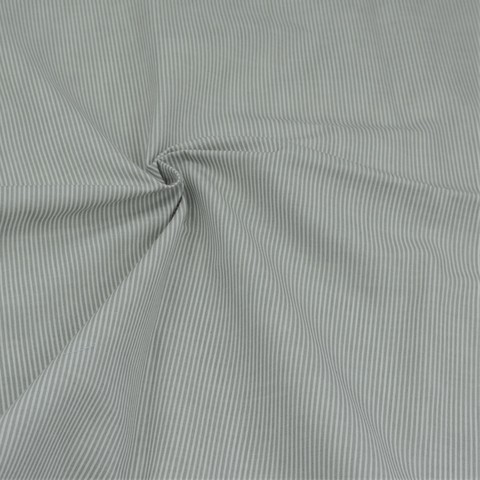 Ткань хлопковая в серую мелкую полоску