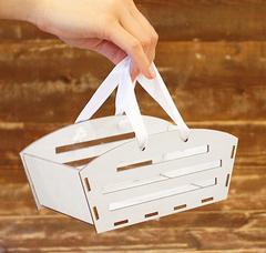 Ящик прямоугольный реечный с ручками, сборный, 19 х 8 х 10 см, 1 шт.