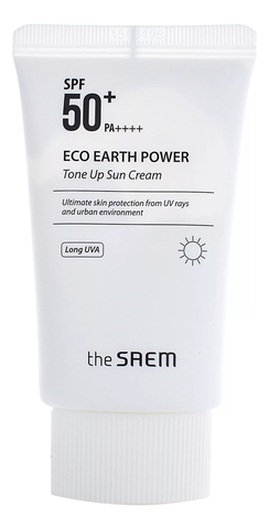 THE SAEM Eco Earth Крем солнцезащитный Eco Earth Tone Up Sun Cream