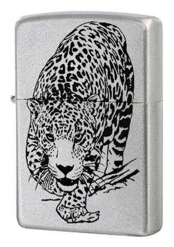 Зажигалка Zippo Leopard с покрытием Satin Chrome™, латунь/сталь, серебристая, матовая, 36x12x56123