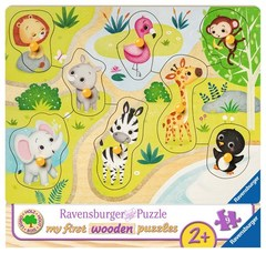 Puzzle Zoo animals 8 pcs
