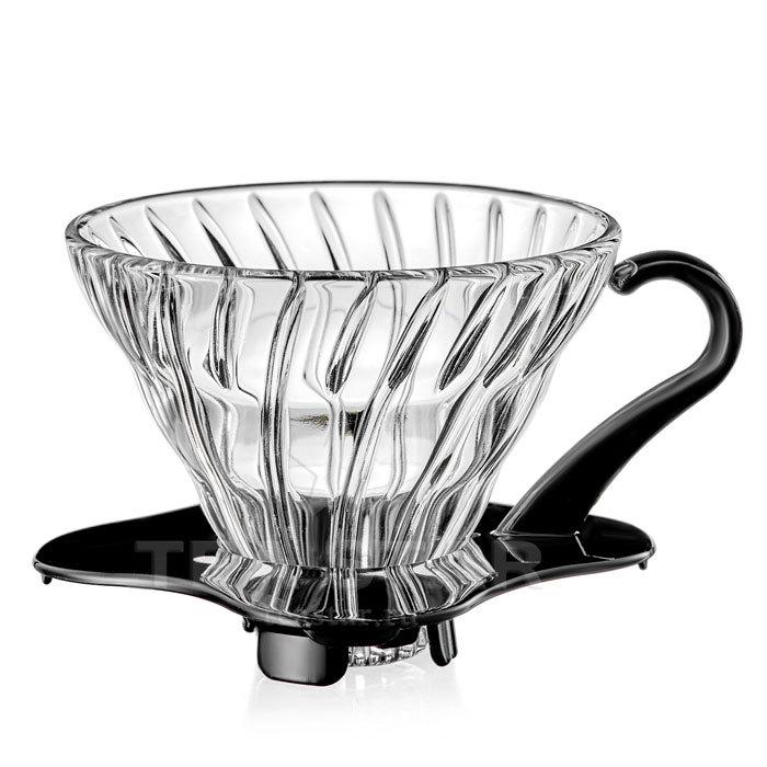 Кофейные аксессуары Воронка Hario 60, VDG-01b, стеклянная для приготовления кофе, черная Hario_V60-VDG-01b-1.jpg