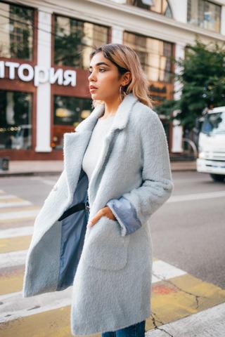 Женское пальто с эко мехом Nadya