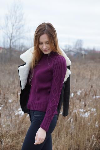 Куртка-косуха Авиатор с натуральной овчинкой