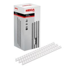 Пружины для переплета пластиковые Promega office 16 мм белые (100 штук в упаковке)