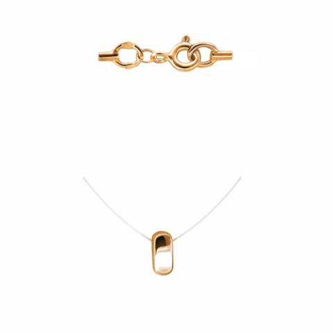 01Л011847- Минималистическая подвеска из золота 585 пробы на леске-невидимке