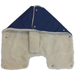 Папитто. Муфта для коляски Снежинка, синий