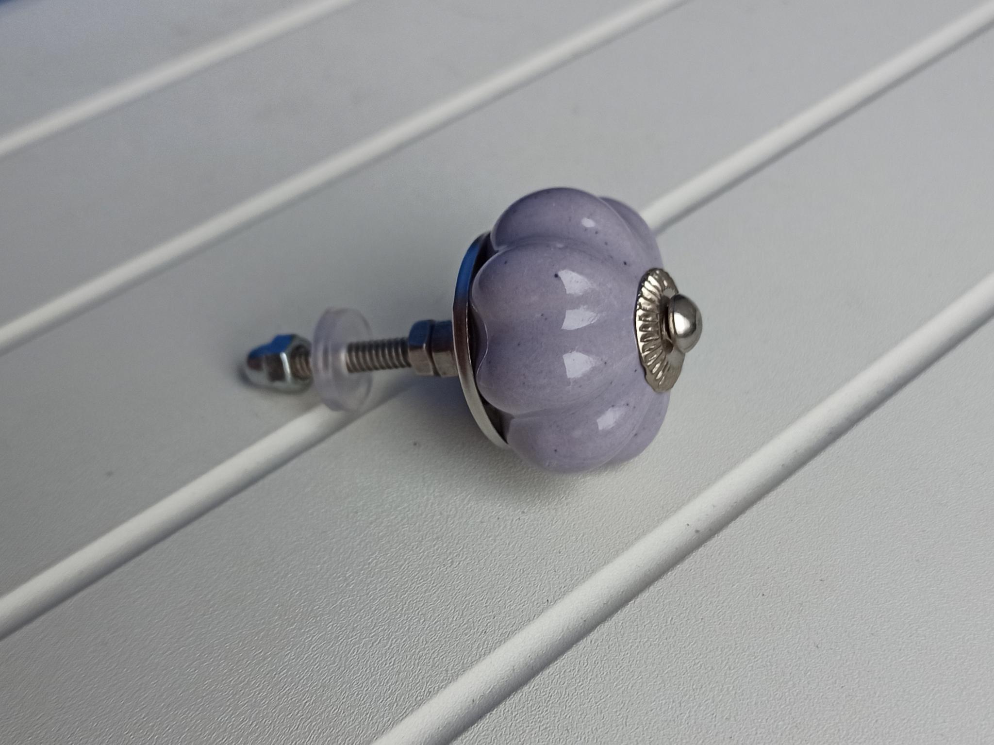 Ручка мебельная керамическая светлосиреневый, арт. 00001253