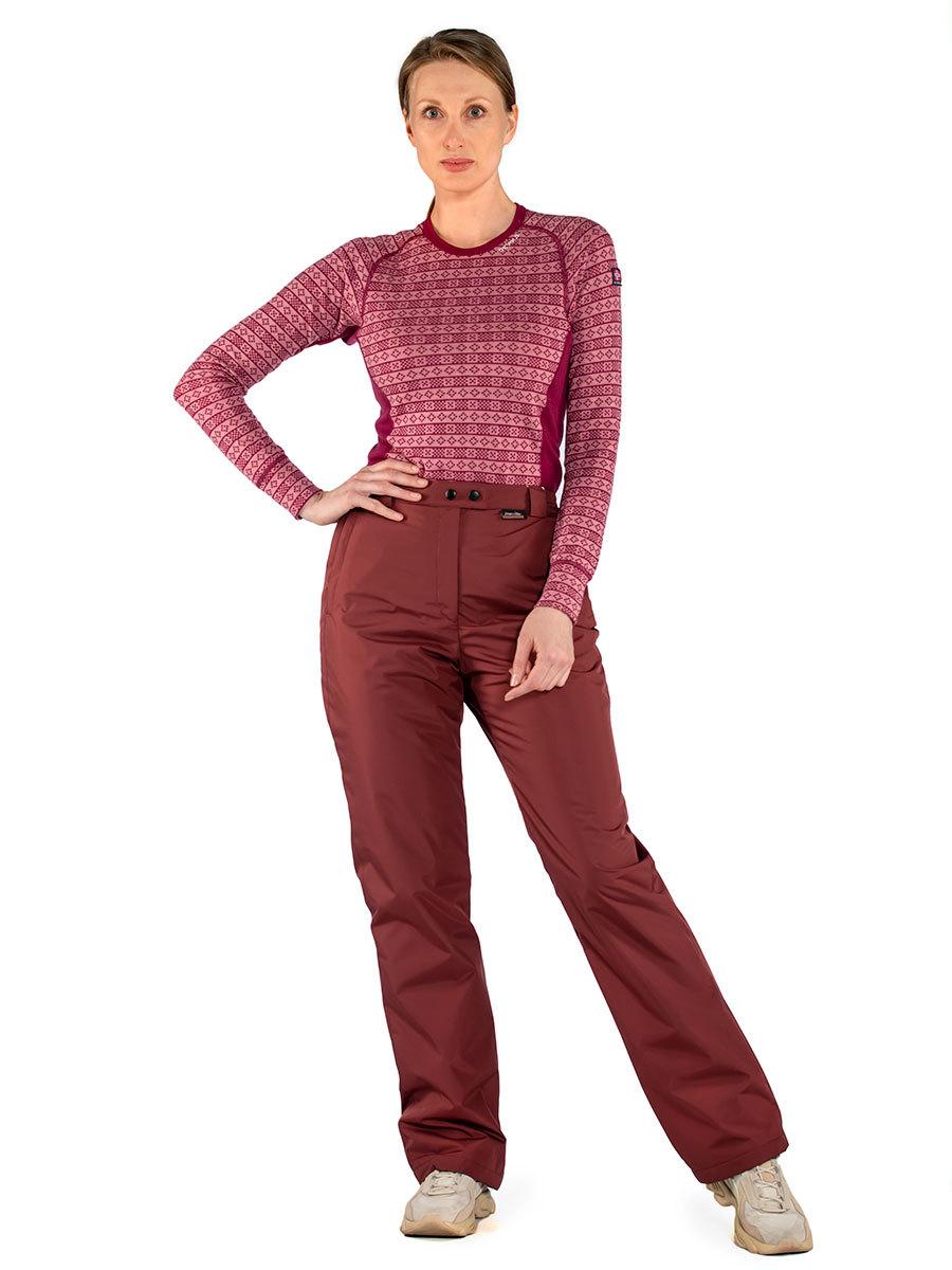 Maritta брюки Meri цвет бордо