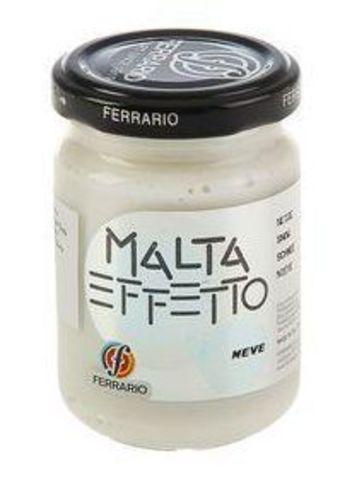 Паста текстурная Ferrario MALTA, эффект: Снег, 150 мл