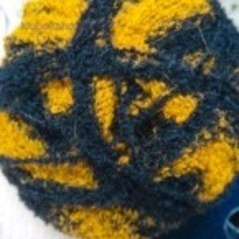 Пряжа Суперфантазийная цвет 634 желтый/темно-синий Пехорка - купить в интернет-магазине Клубок Шоп