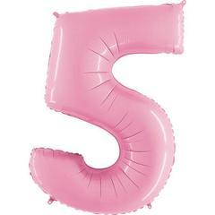 Г Цифра, 5, Розовый (Pink), 40''/102 см, 1 шт.