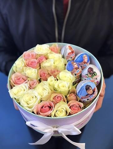 Розы и Kinder сладости #2970