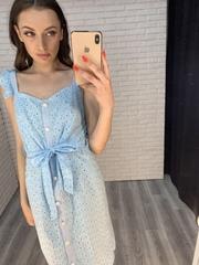 платье с пуговицами по всей длине nadya