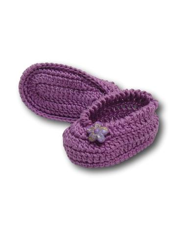 Вязаные туфли - Сиреневый. Одежда для кукол, пупсов и мягких игрушек.