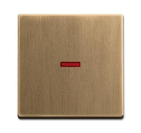 Клавиша одноклавишного выключателя/переключателя/кнопки с красной линзой. Цвет Латунь античная. ABB (АББ). 1751-0-3118