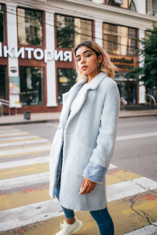 Женское пальто с эко мехом оптом