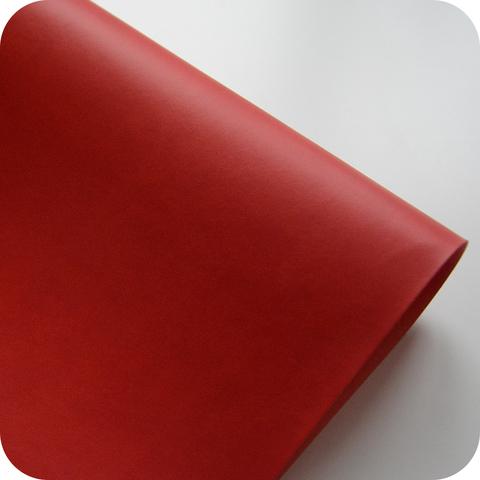 Кожзам переплетный матовый, красный