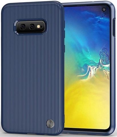 Чехол для Samsung Galaxy S10e цвет Blue (синий), серия Bevel от Caseport