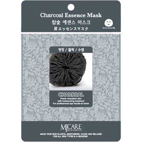 Тканевая маска с древесным углем Mijin Charcoal Essence Mask
