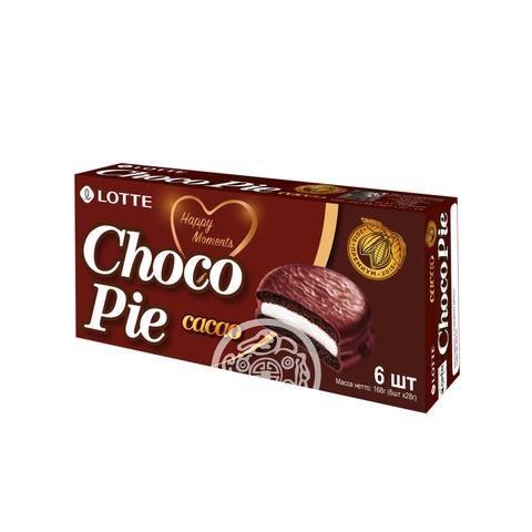 Печенье Choco Pie cacao 168г Lotte Россия
