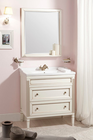 Комплект мебели Caprigo Albion 80 см ( тумба с раковиной + зеркало )