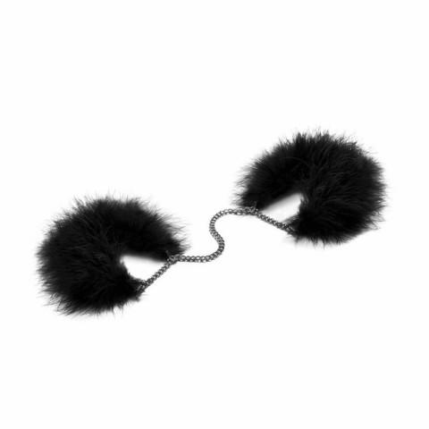 Bijoux Indiscrets ZA ZA ZU FEATHER HANDCUFFS Наручники с перьями черные
