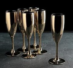 Набор бокалов для шампанского «Золото», 170 мл, 6 шт, фото 1