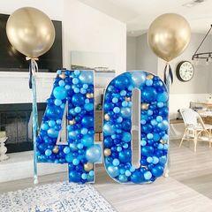 Ростовые цифры из воздушных шаров