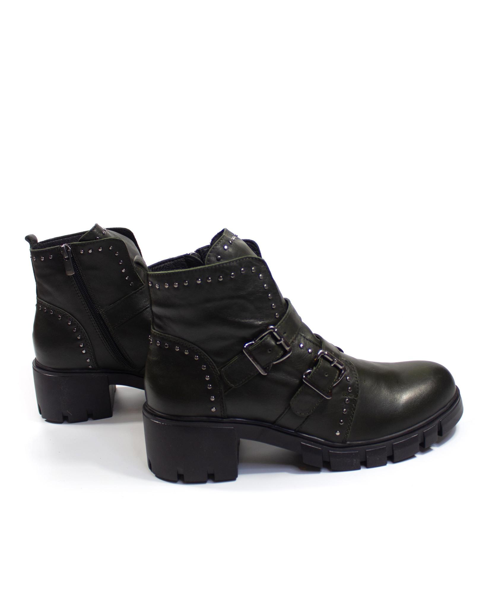 темно-зеленые ботинки SM