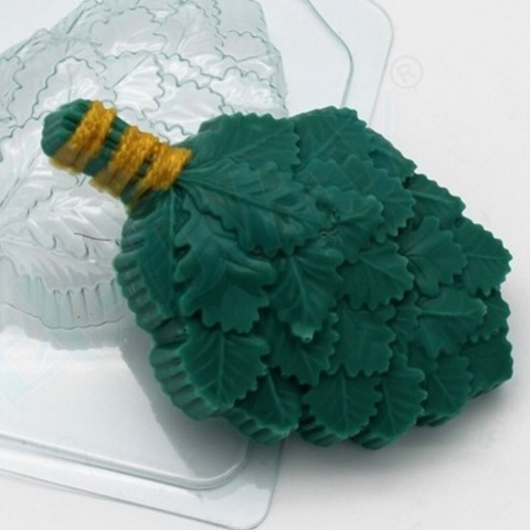 Пластиковая форма для шоколада муж. ВЕНИК ДУБОВЫЙ (110х75мм)