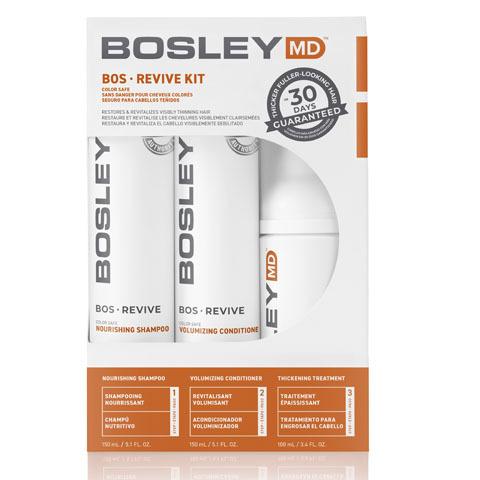 Bosley MD Revive Оранжевая линия: Система от выпадения и для стимуляции роста окрашенных волос (BosRevive Color Safe Starter Pack), 150мл*2+ 100мл