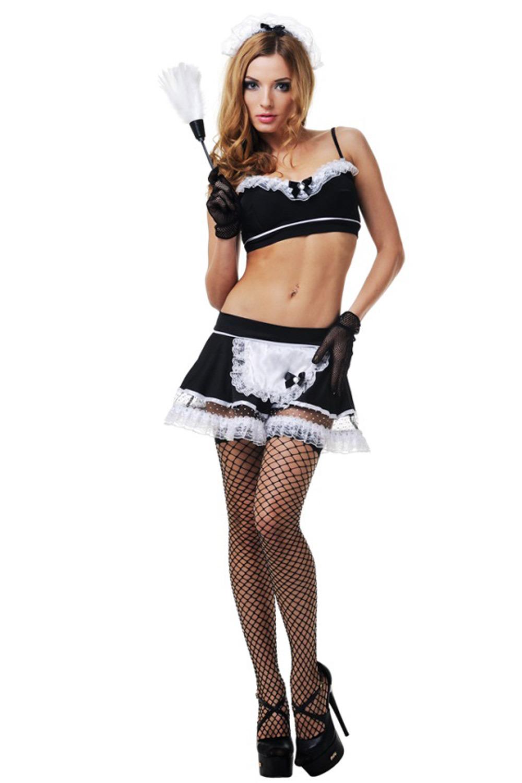 Эротический костюм горничной для взрослых ролевых сексуальных игр