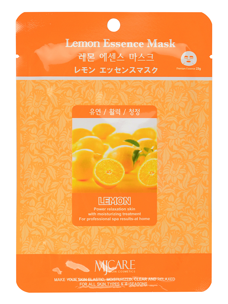MIJIN Маска тканевая для лица лимон Lemon Essence Mask МЖ8.jpg