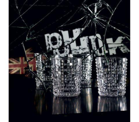 Набор из 4 хрустальных стаканов для виски Punk, 348 мл