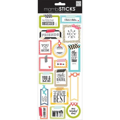 Стикеры mambi Specialty Stickers Obsessed 13х30 см