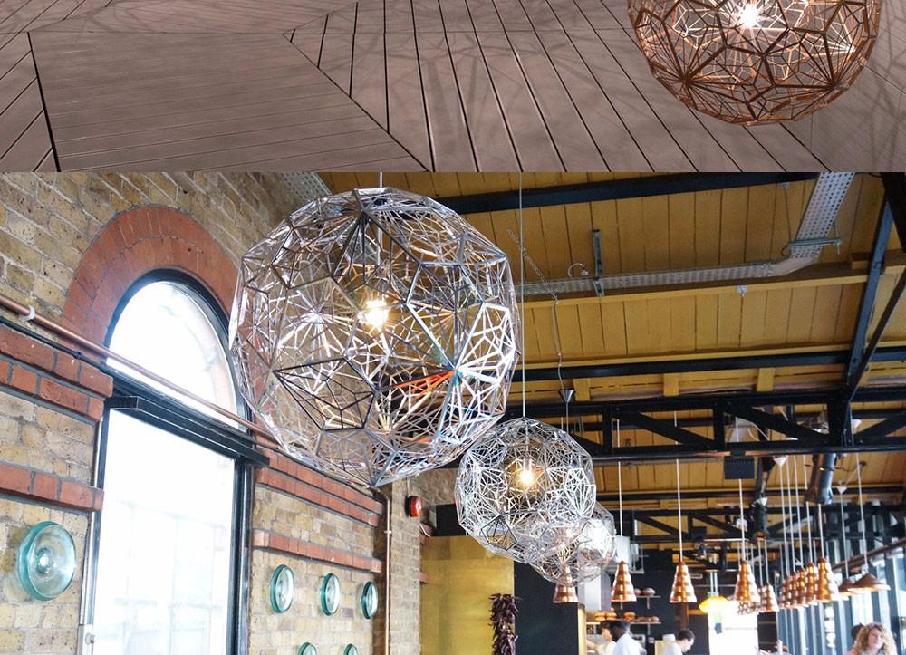 Подвесной светильник копия Etch Web by Tom Dixon (золотой)