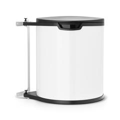 Встраиваемый мусорный бак (15 л), Белый