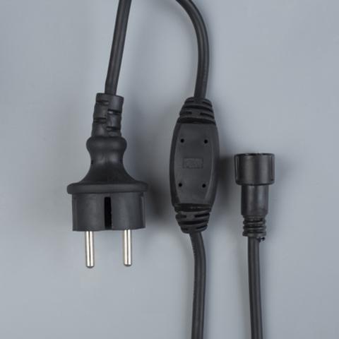Силовой шнур для светодиодного занавеса черный