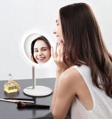Зеркало косметическое настольное Xiaomi Amiro Lux High Color Белый (AML004W) с подсветкой