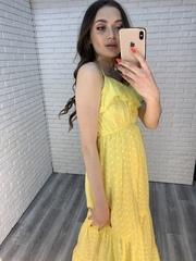 желтый сарафан в пол оптом