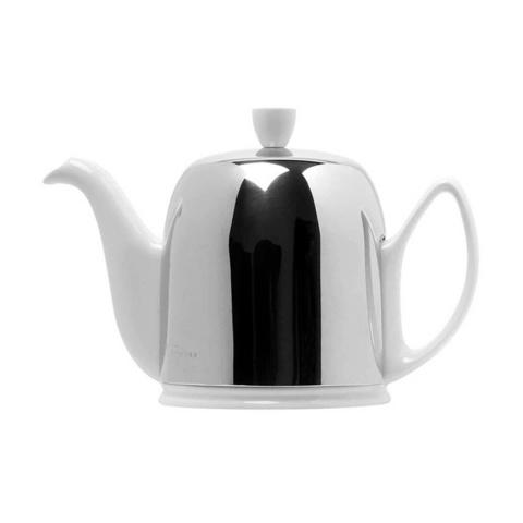 Фарфоровый заварочный чайник на 6 чашек с крышкой, белый, артикул 211989.