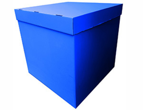 Коробка для воздушных шаров с персональным оформлением синяя