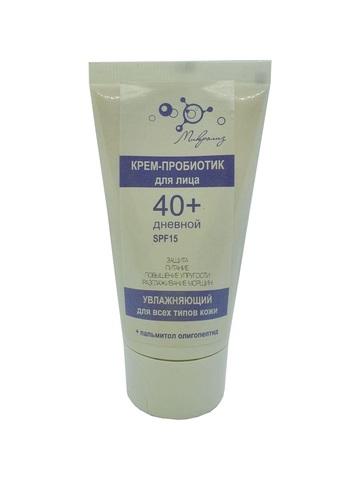 Крем-пробиотик дневной антивозрастной 40+ с пептидом SPF 15 , туба 50 мл