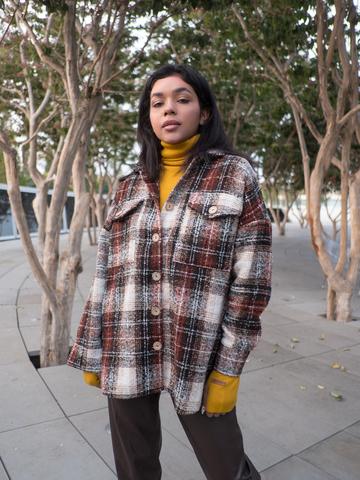 Удлиненная рубашка женская теплая nadya