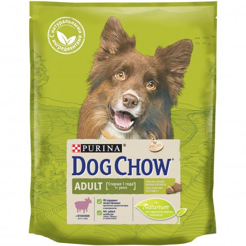 Purina Dog Chow PURINA DOG CHOW Сухой корм для взрослых собак с ягненком Adult Lamb