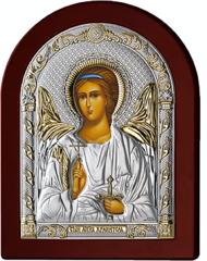 Серебряная икона Ангел Хранитель (прозрачный лак, повышенное качество!)